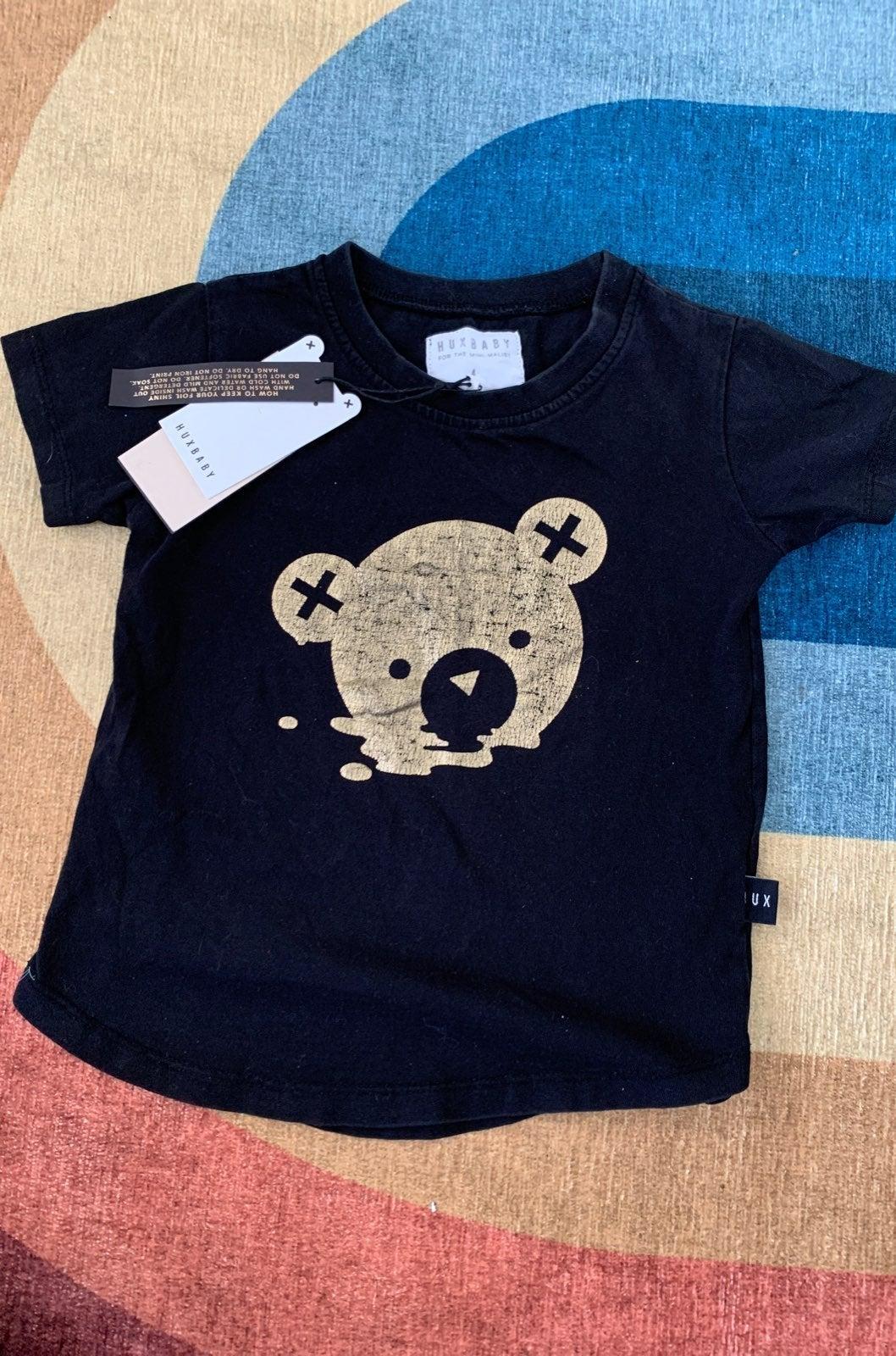 Nwt huxbaby size 4 bear shirt organic