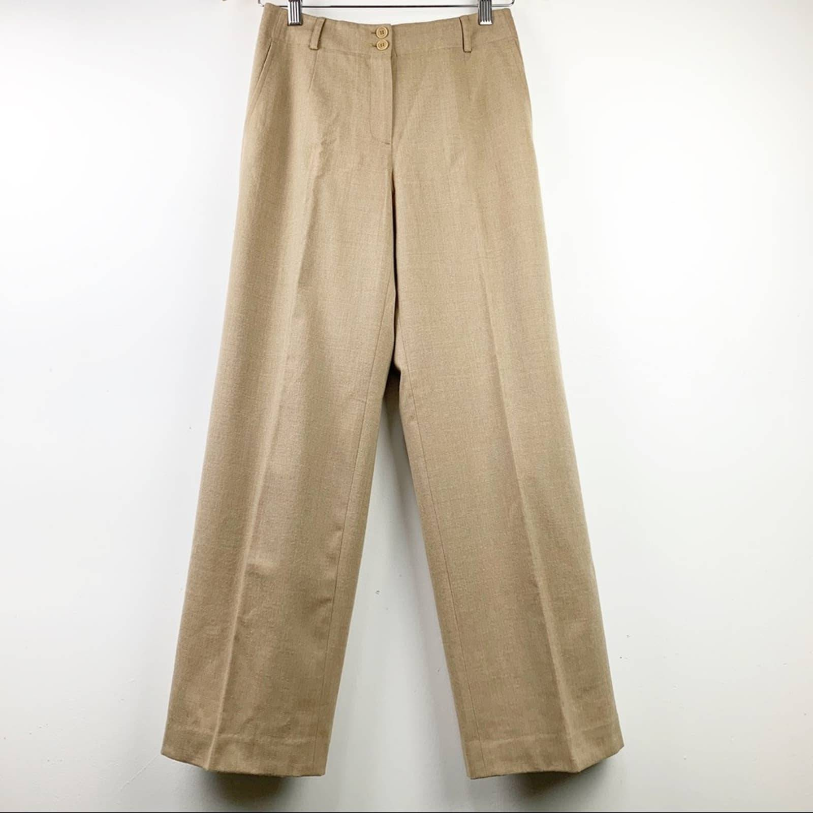 Talbots Wool Carmel Color Trousers 2