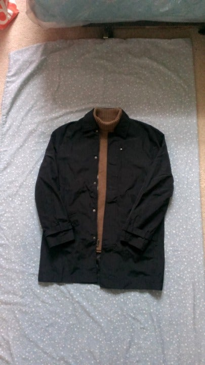NWOT Perry Ellis Trench Coat Jacket L