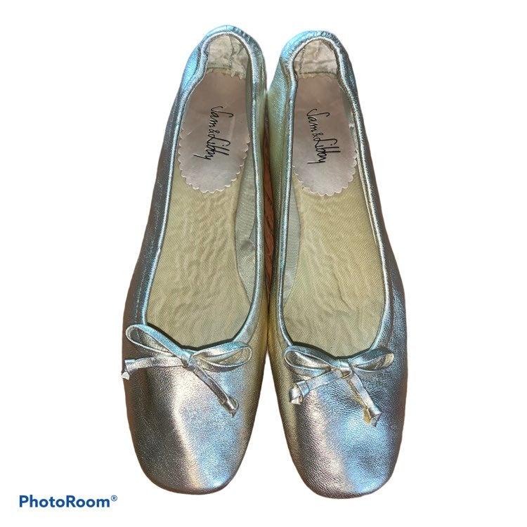Sam & Libby Gold Metallic Ballet Flats