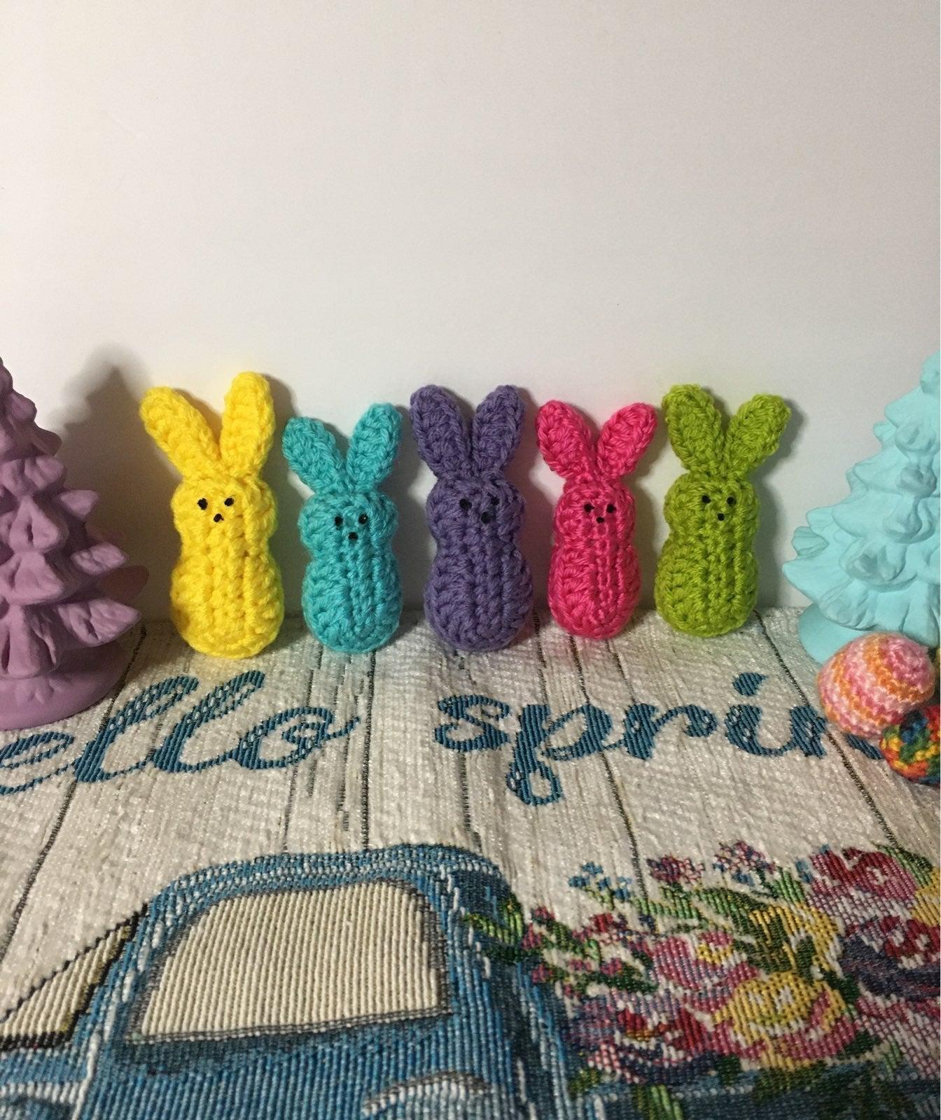 Crocheted Mini Bunny Peeps (Set of 5) (i