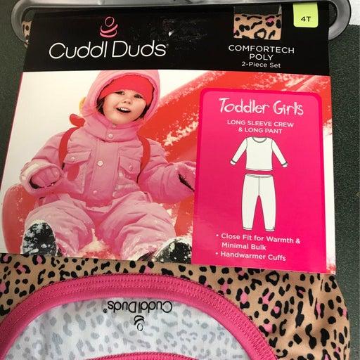 Cuddl Duds, 4T, Leopard print, NEW