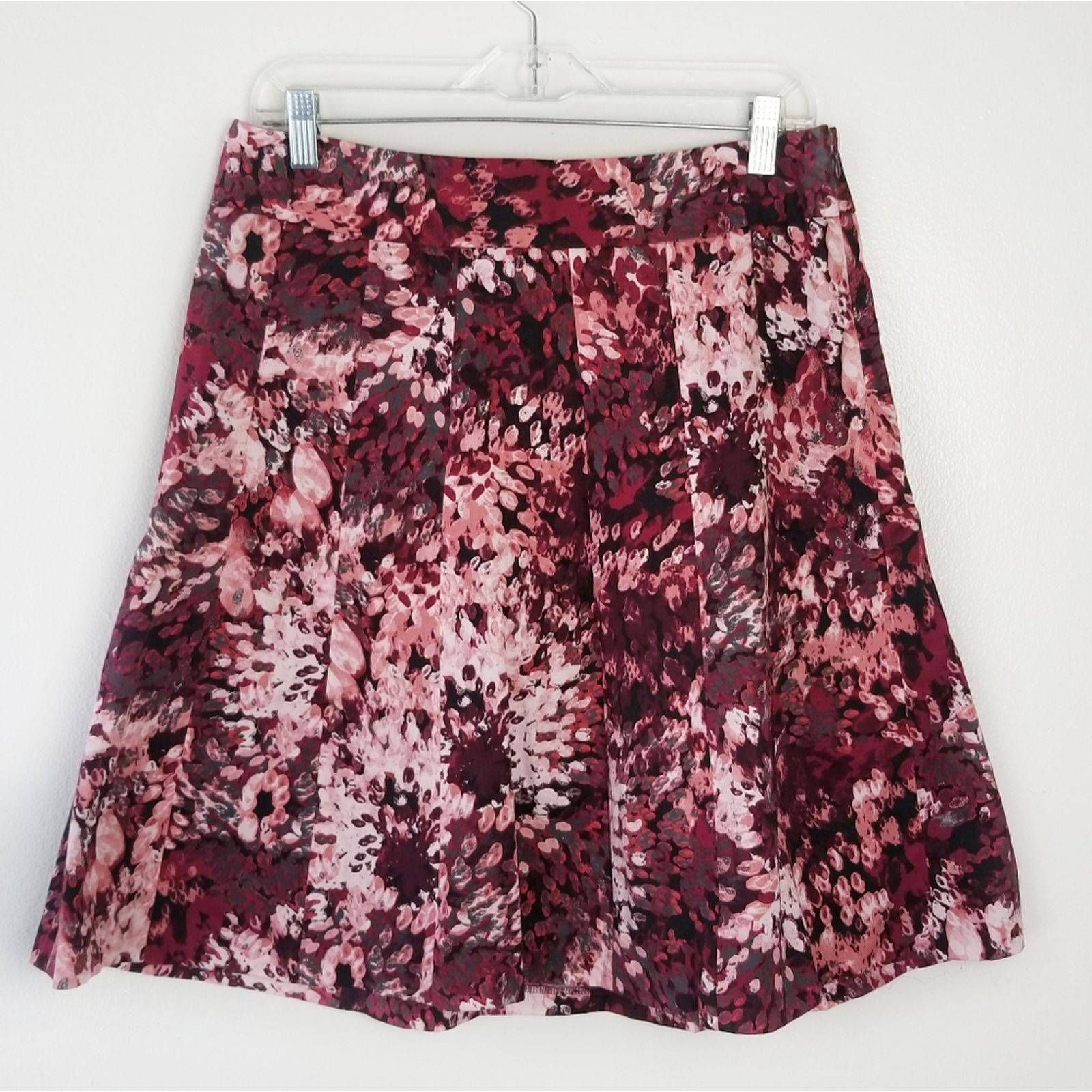 Ann Taylor Flare Floral Print Skirt
