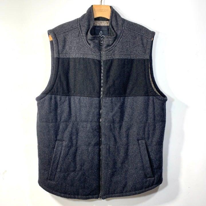Prana Wool Tweed Zip Up Insulated Vest L