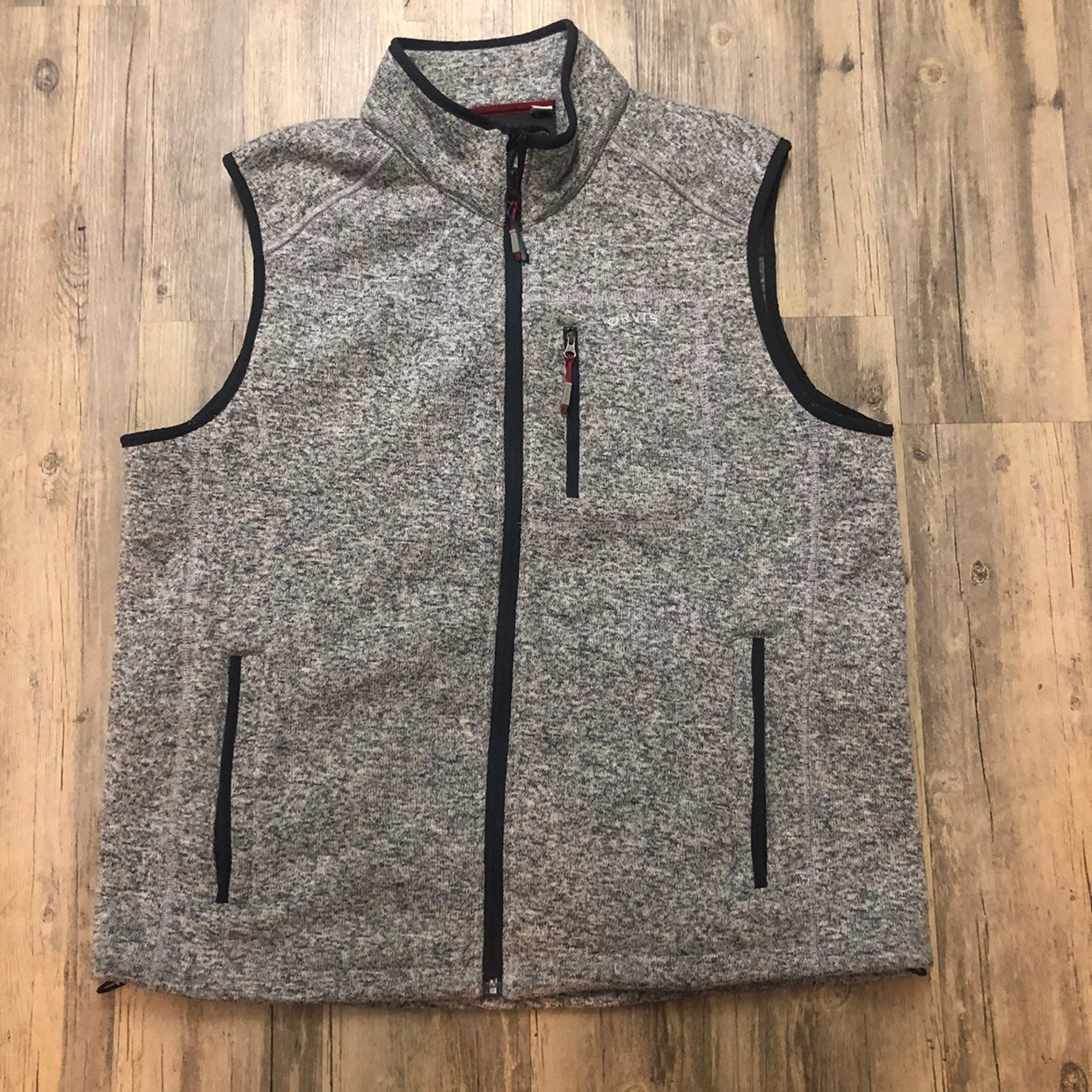 ORVIS Heathered Gray Fleece Sweater