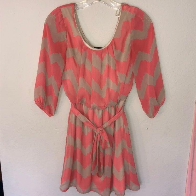 Pink Long Sleeve Dress