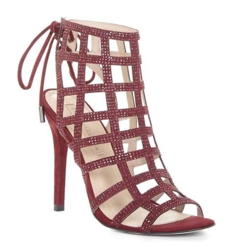 BCBGMAXAZRIA red embellished sandals