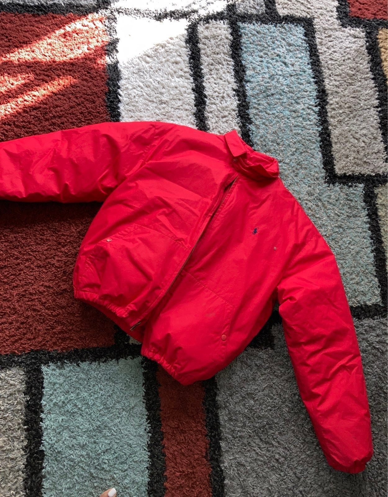 Buffer polo red coat