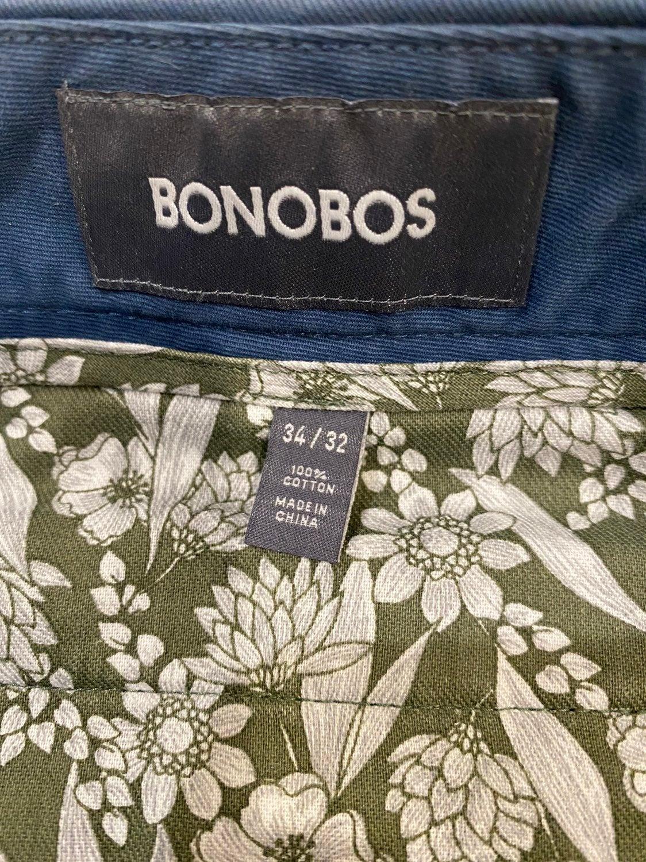 Bonobos flat front chino blue 34