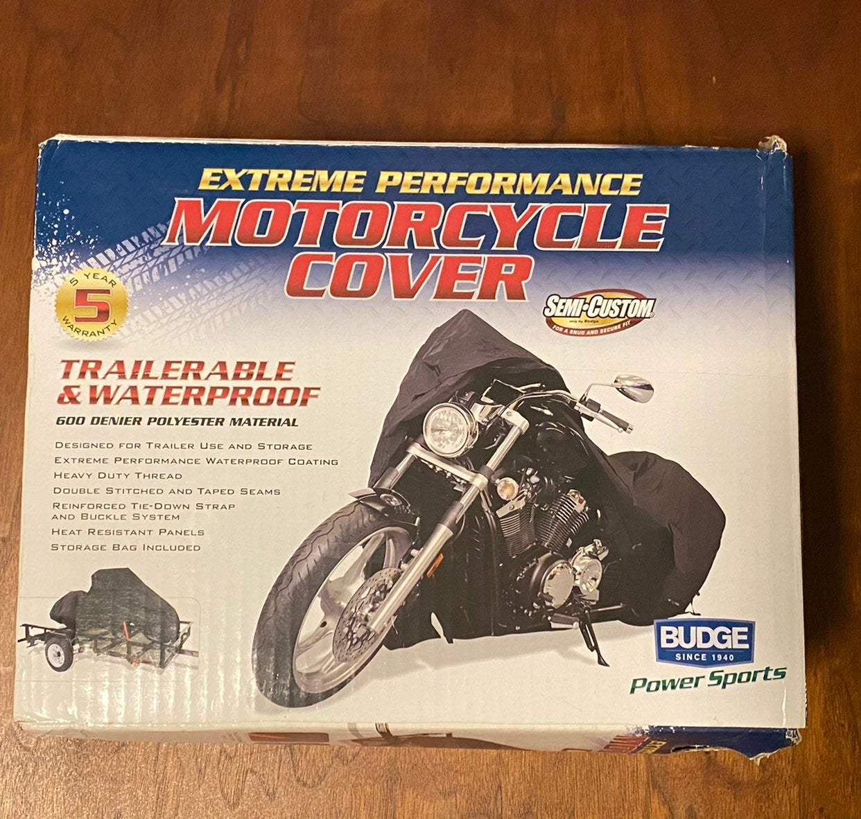 Budge motorcycle cover