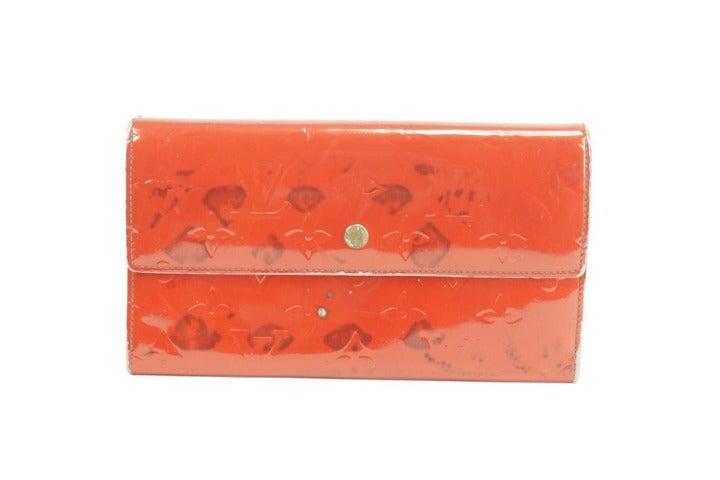 Louis Vuitton Red Sarah Trifold Wallet