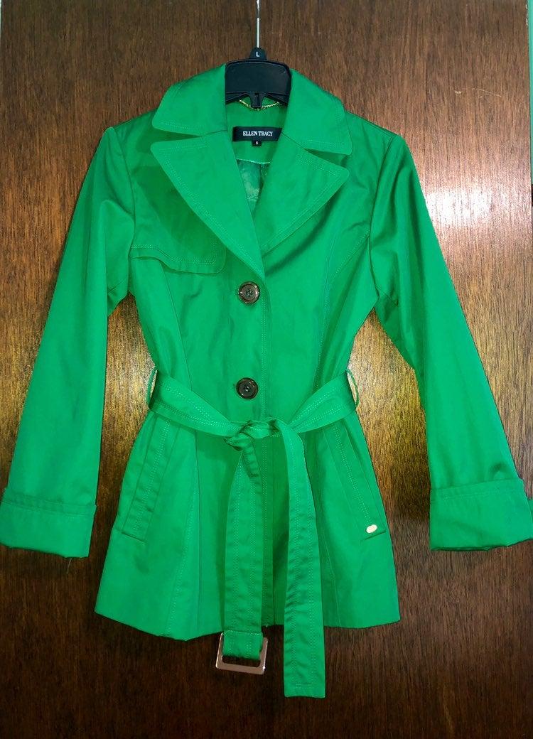 Ellen Tracy Belted Trench Coat