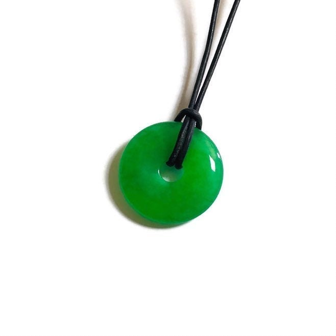 Apple Green Donut Jade Pendant