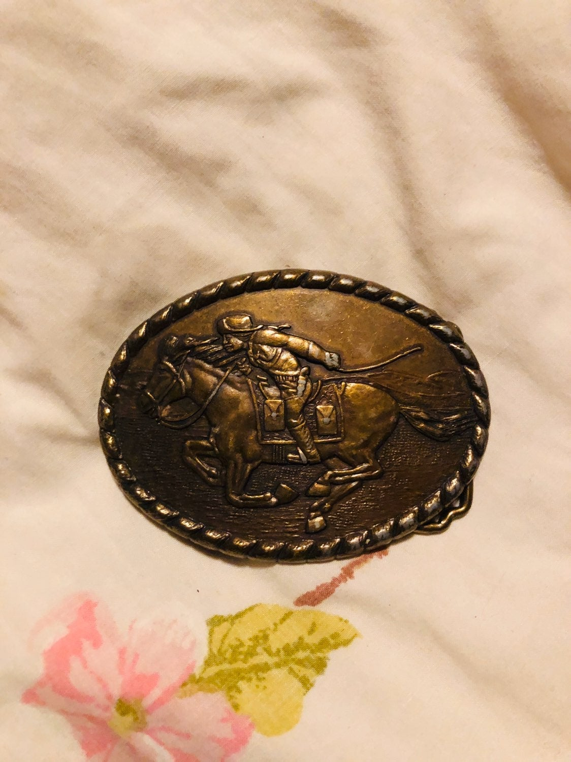 Pony express belt buckle