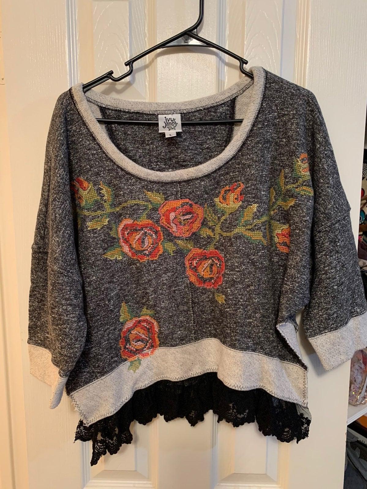 ivy jane crop top sweater