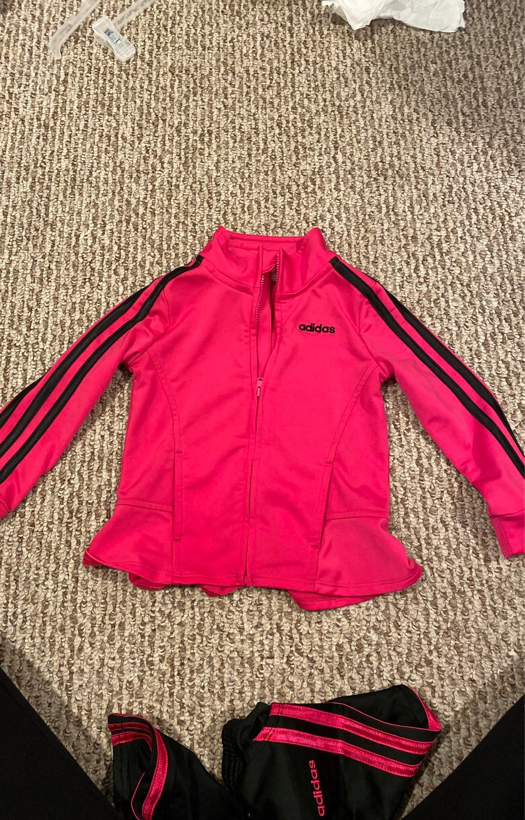 Kids Adidas 3-Stripes Track Suit