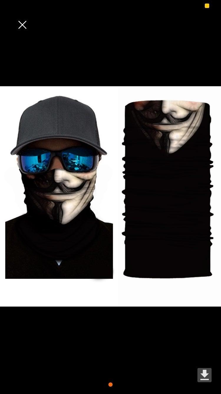 V for Vendetta Face Mask Neck Gaiter