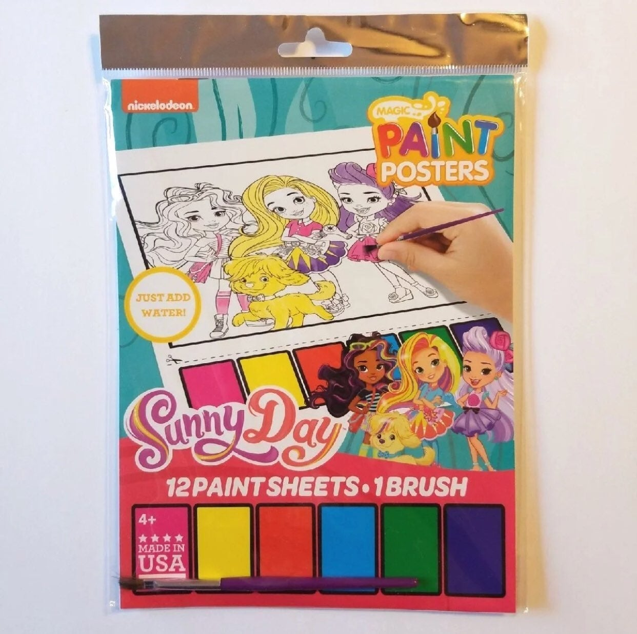 SUNNY DAY 12 PAINT POSTERS ACTIVITY SET