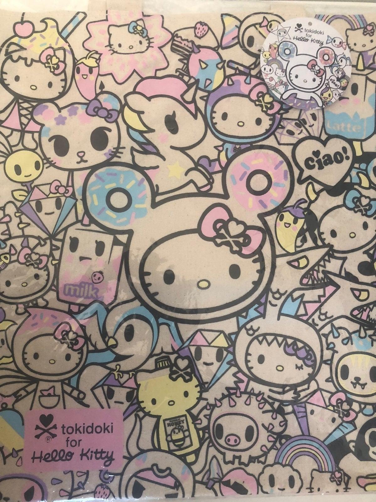 Hello Kitty tokidoki Canvas Tote Bag