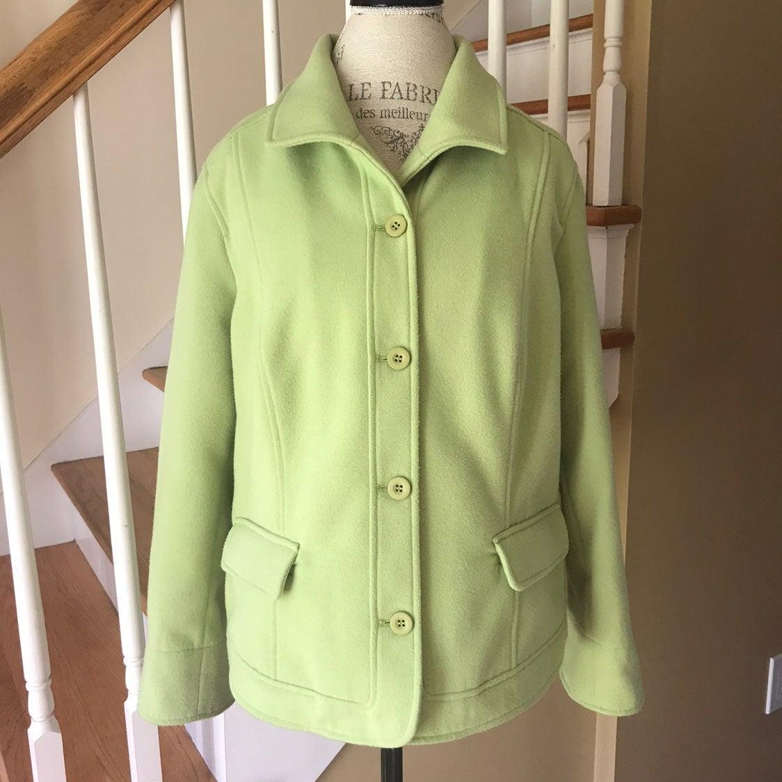 Chico's Chicos Light Green Felt Jacket