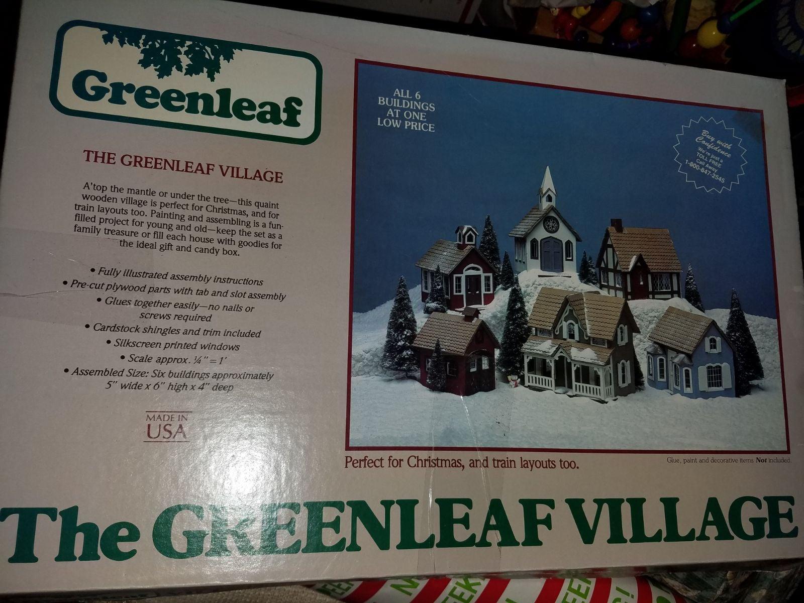 Vintage Greenleaf Dollhouse Village Kit