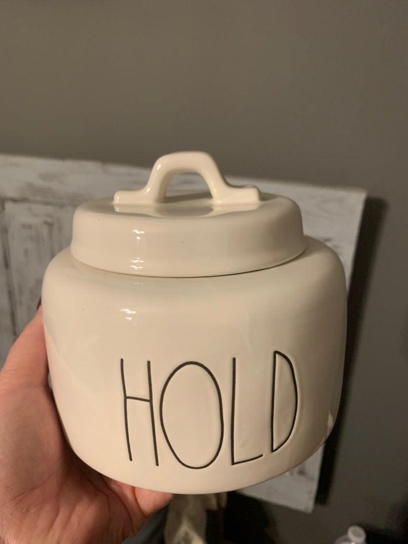 Rae Dunn Hold canister
