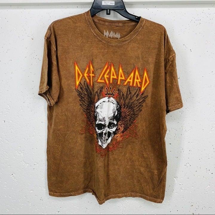 Def Leppard XL Patina Brown Skull Tan