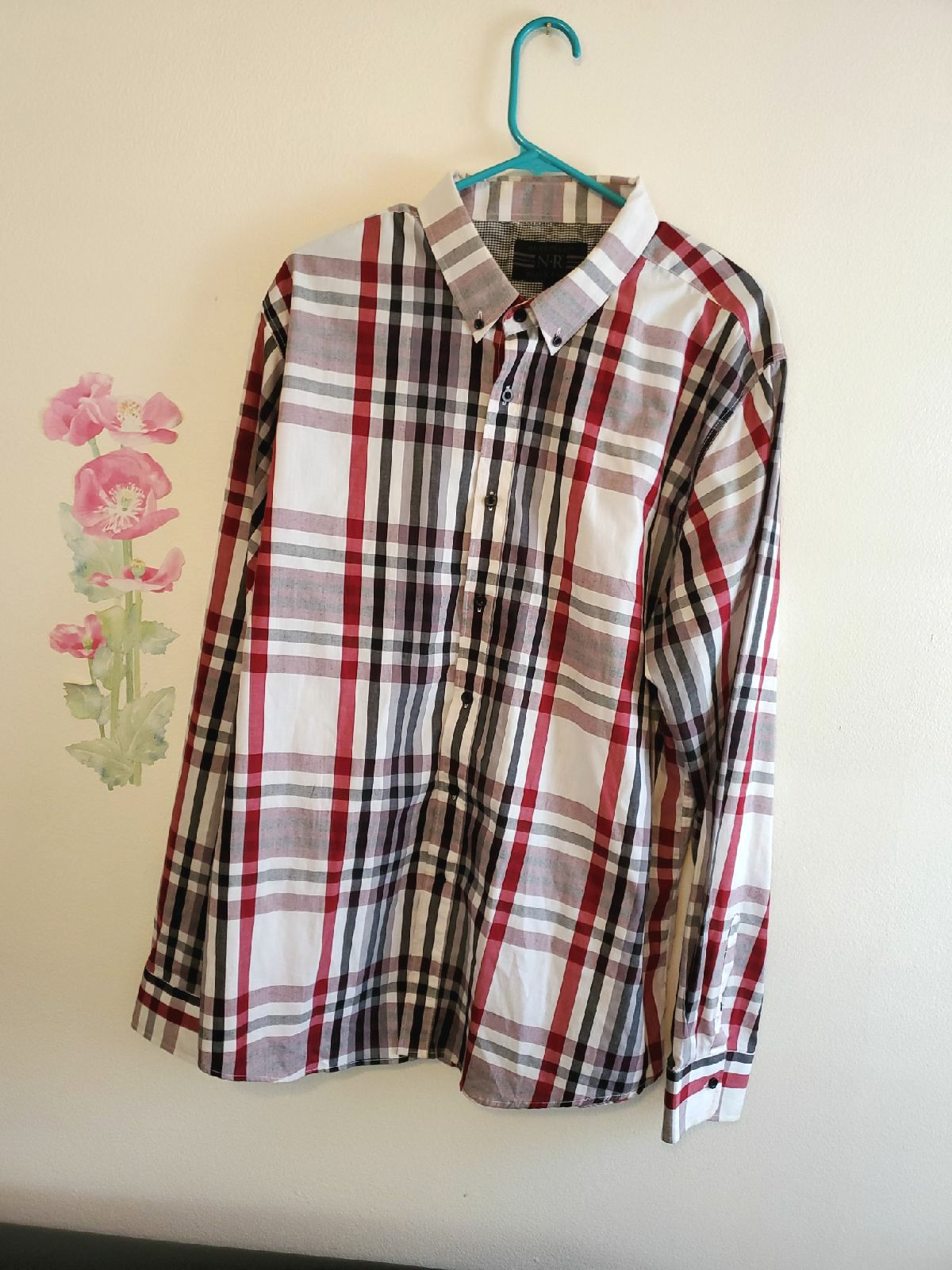 No Retreat plaid designer men's shirt/XX