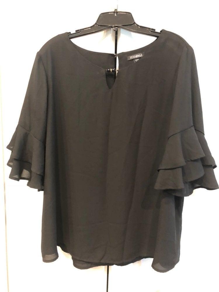 Roz and ali black dress Blouse