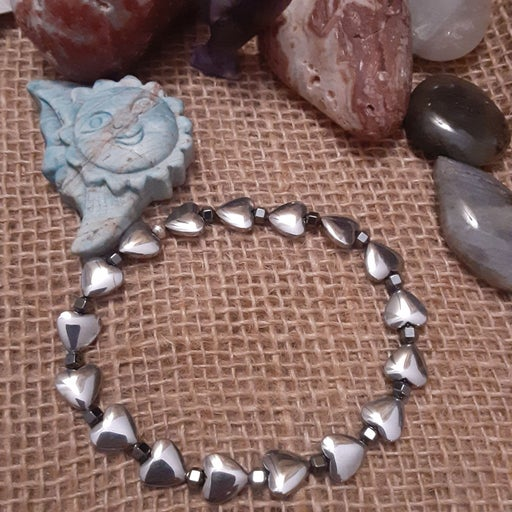 Hemitite Heart Gemstone Anklet