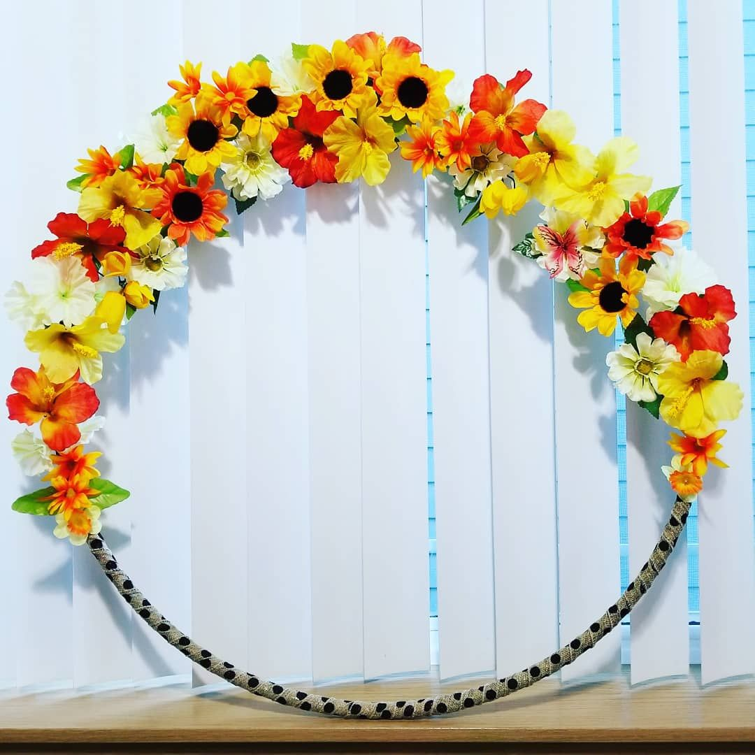 Giant flower hoop frame, photo props