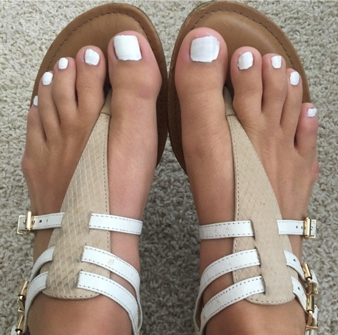 Gianni Bini Cream and White Sandals