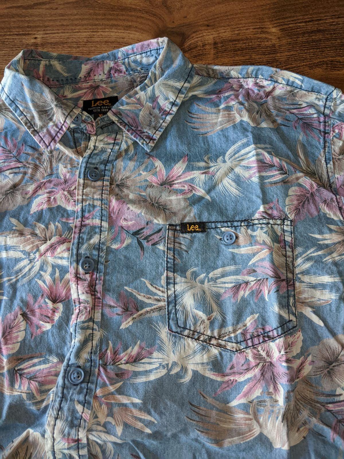 Lee men's denim shirt floral XL