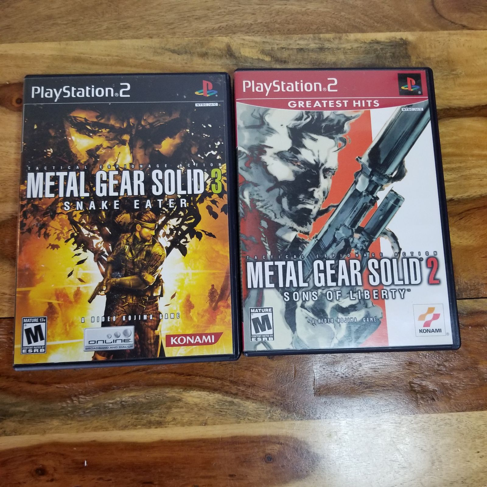 PS2 Metal Gear Solid 2 & 3