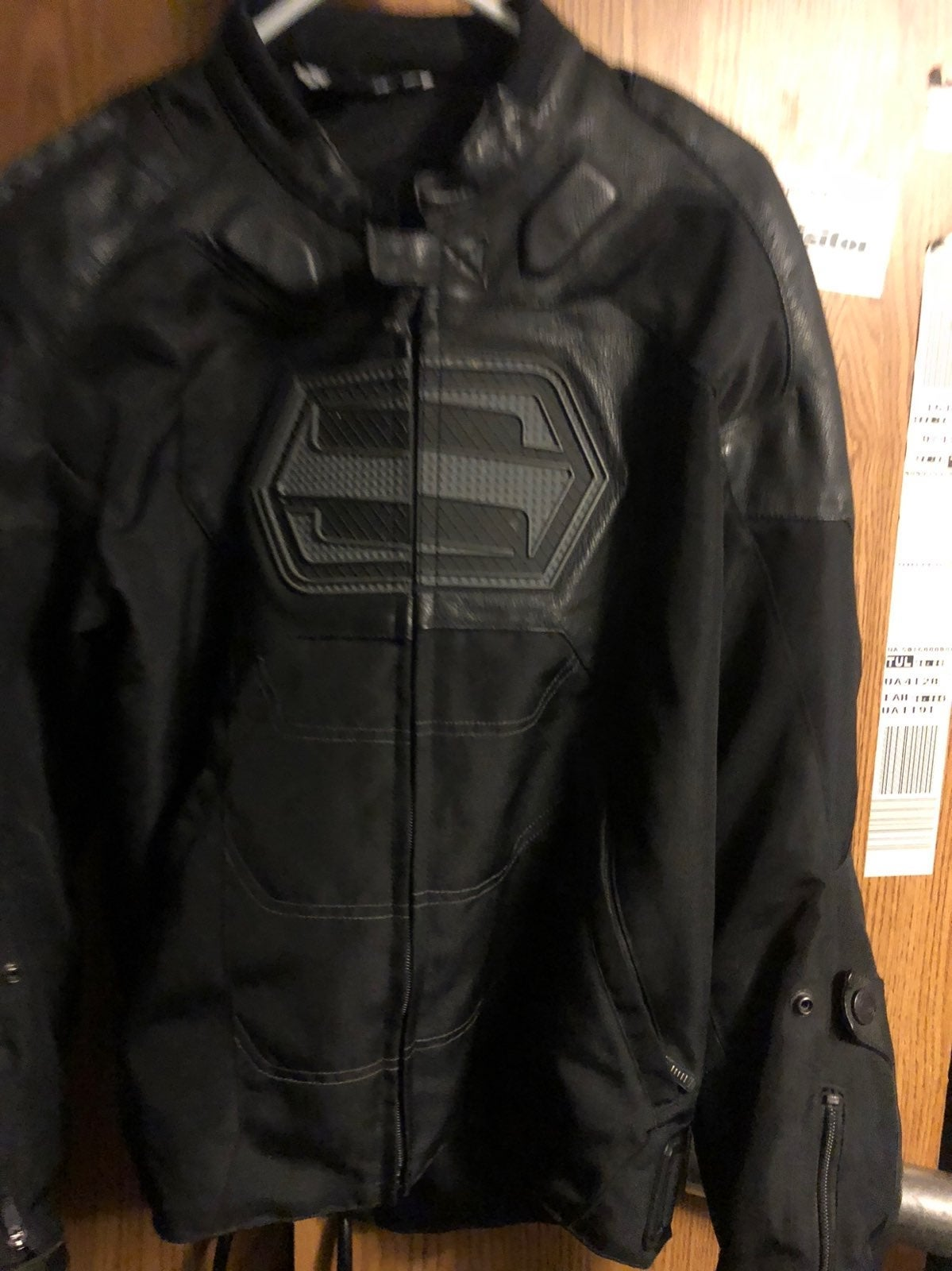 shift motorcycle jacket leather and text