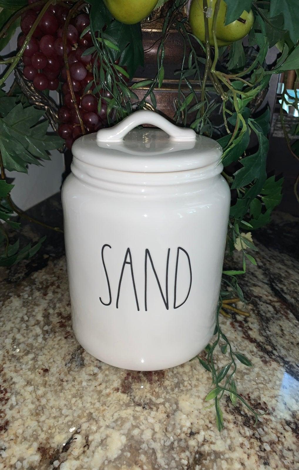 Rae Dunn medium SAND canister