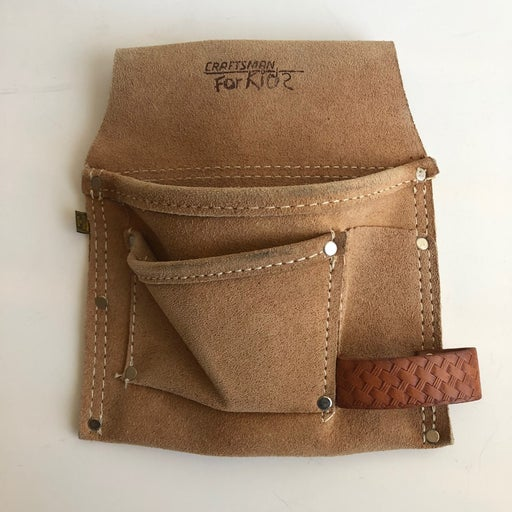 Craftsman for kids leather toolbelt