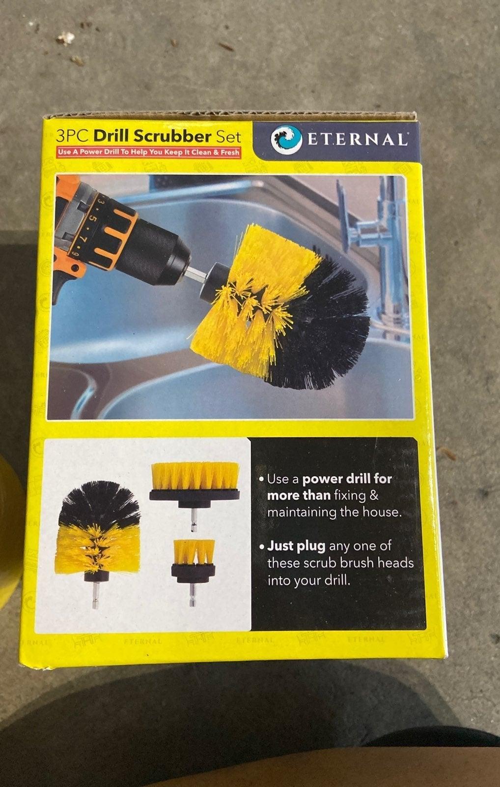 3 pc drill scrubber set