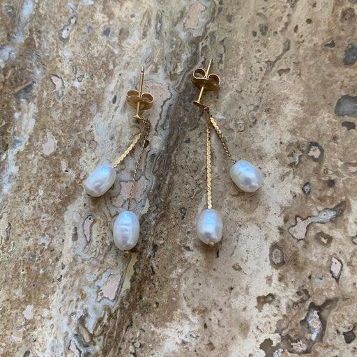 genuine pearl earings