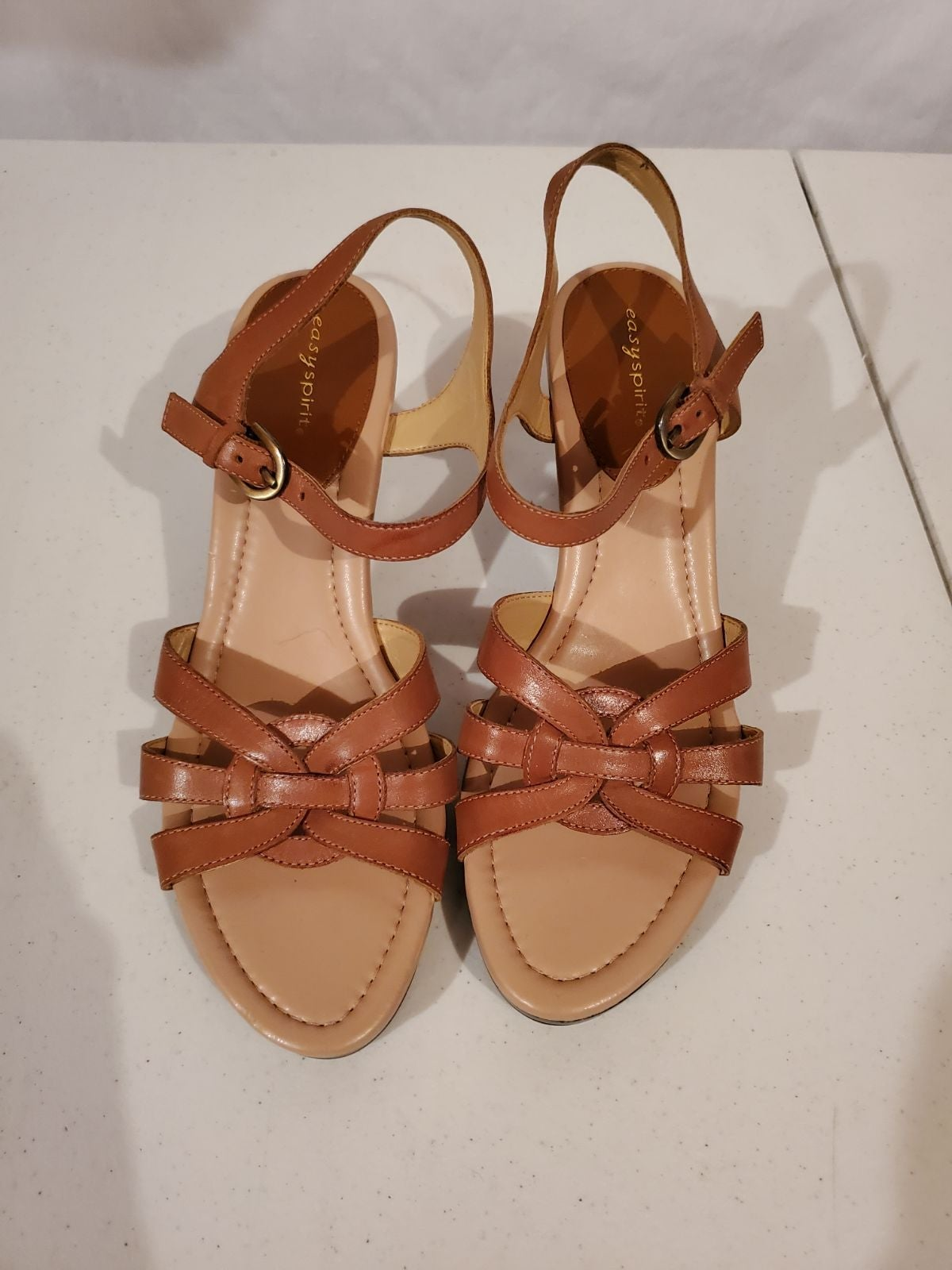 Easy spirit wedge sandals women's size 1