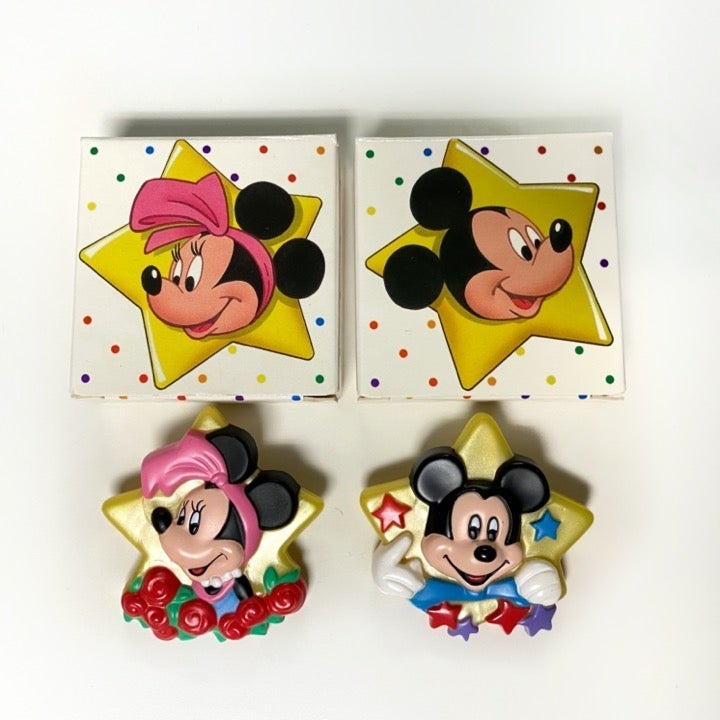 VTG AVON 1989 Mickey Minnie Star Pins
