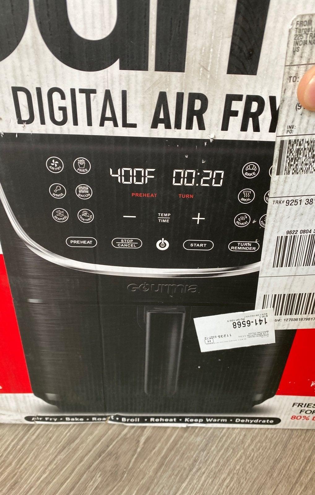 Gourmia 7qt digital air fryer