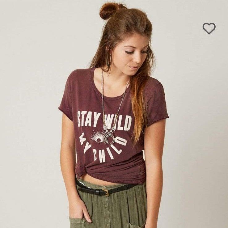Stay wild my child boho top