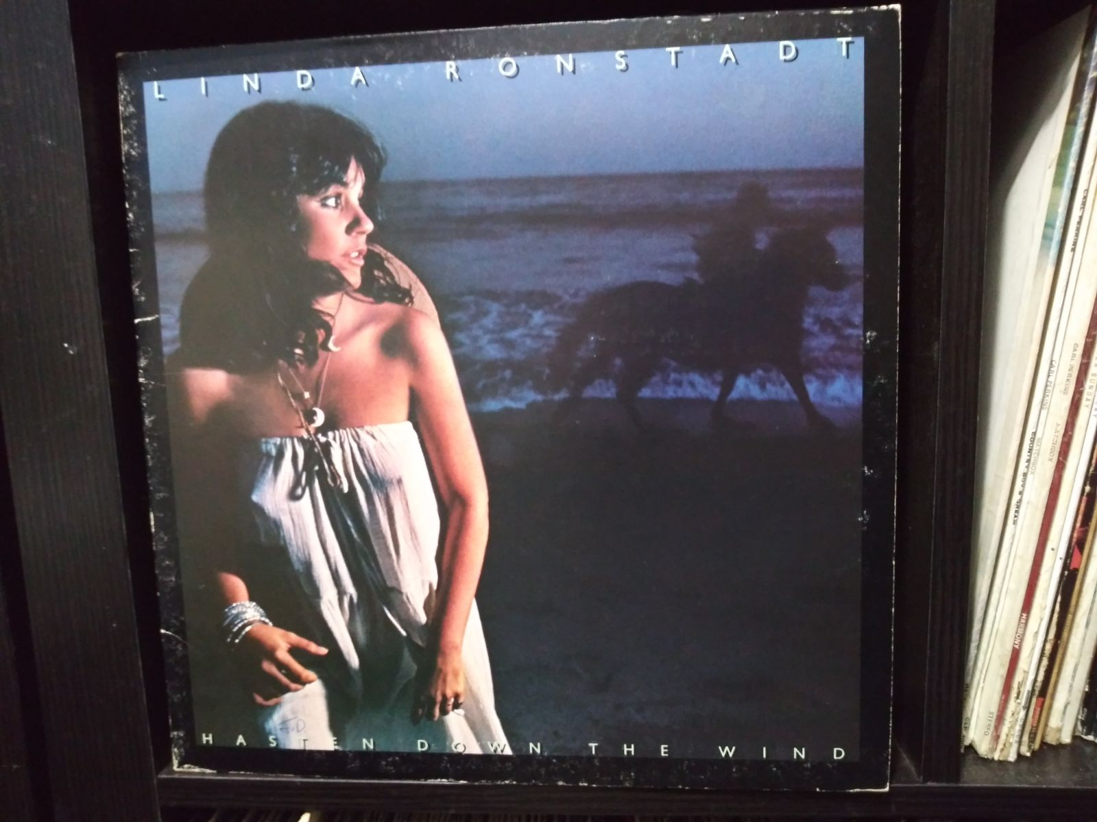 Linda Ronstadt Hasten down vinyl record