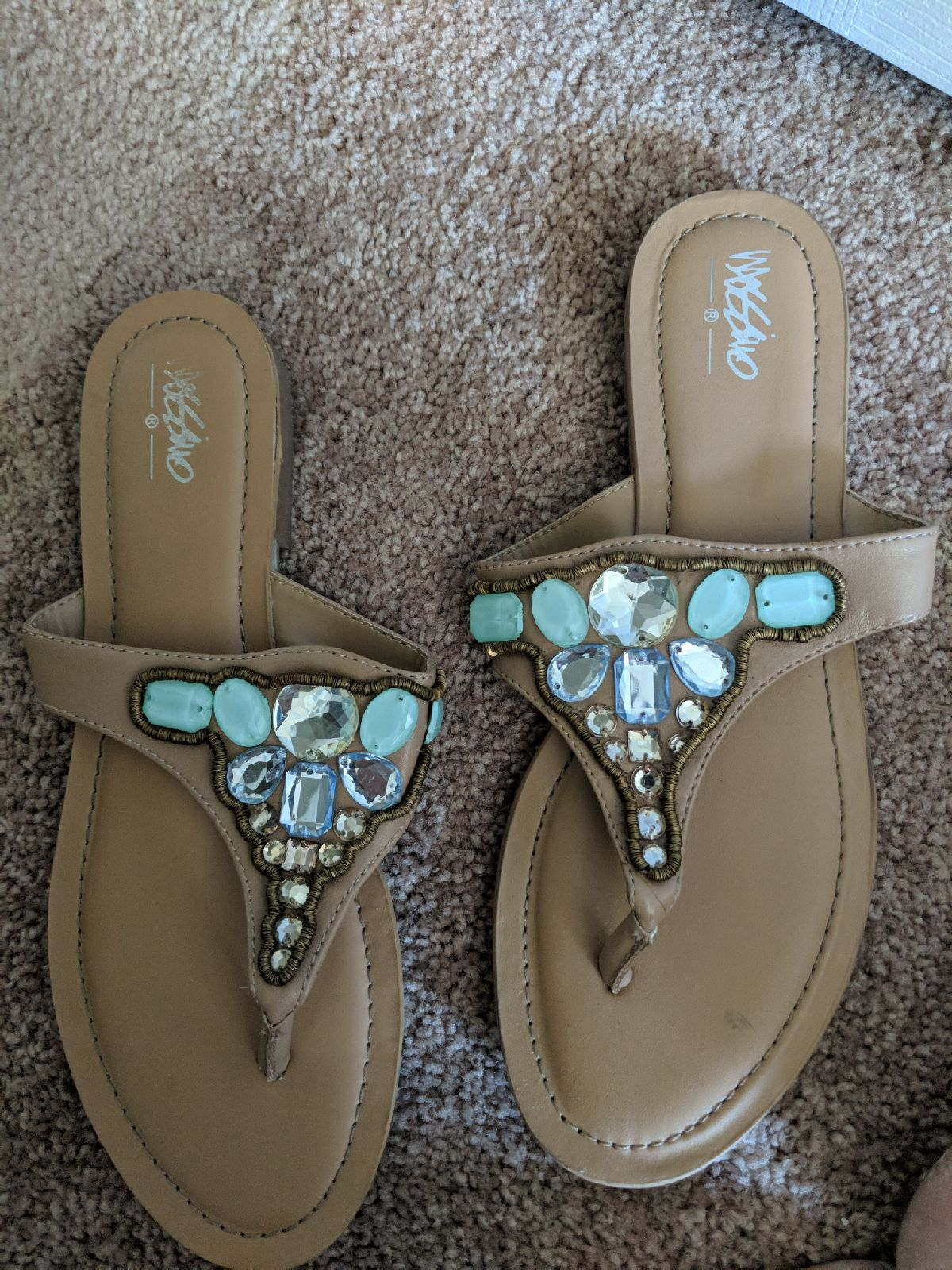 Mossimo beaded sandals