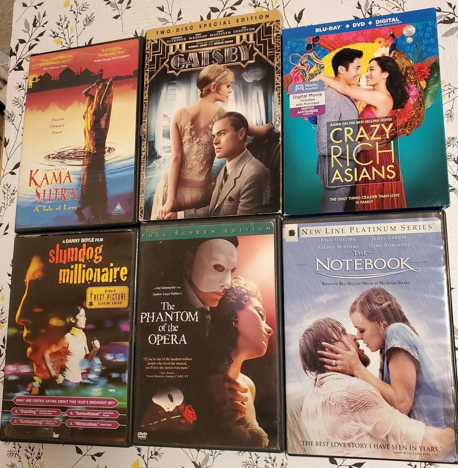 Romantic Movie DVD Lot 7 movies!