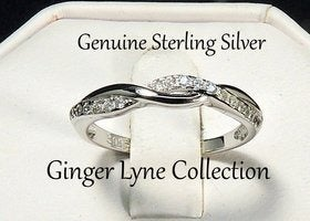 Queena Twisted Sterling Silver ring 7.5
