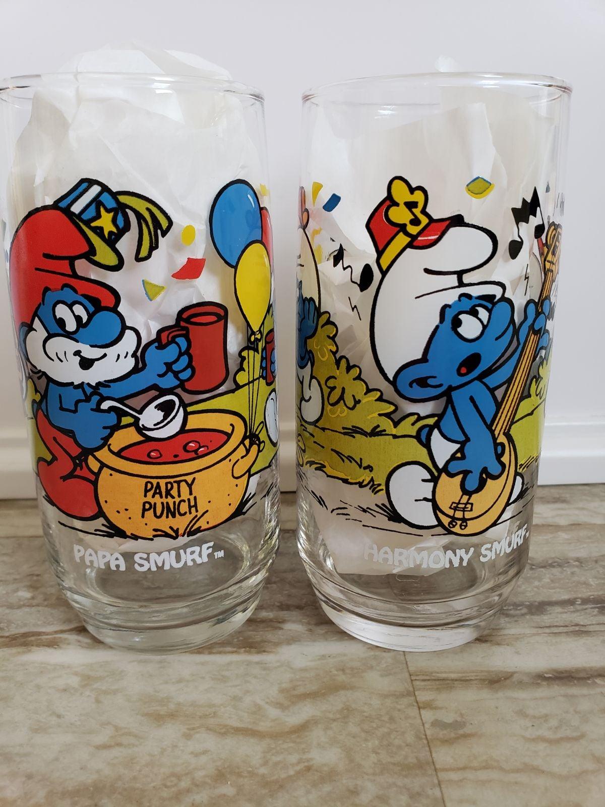 Vintage 1983 Smurf Drinking Glass