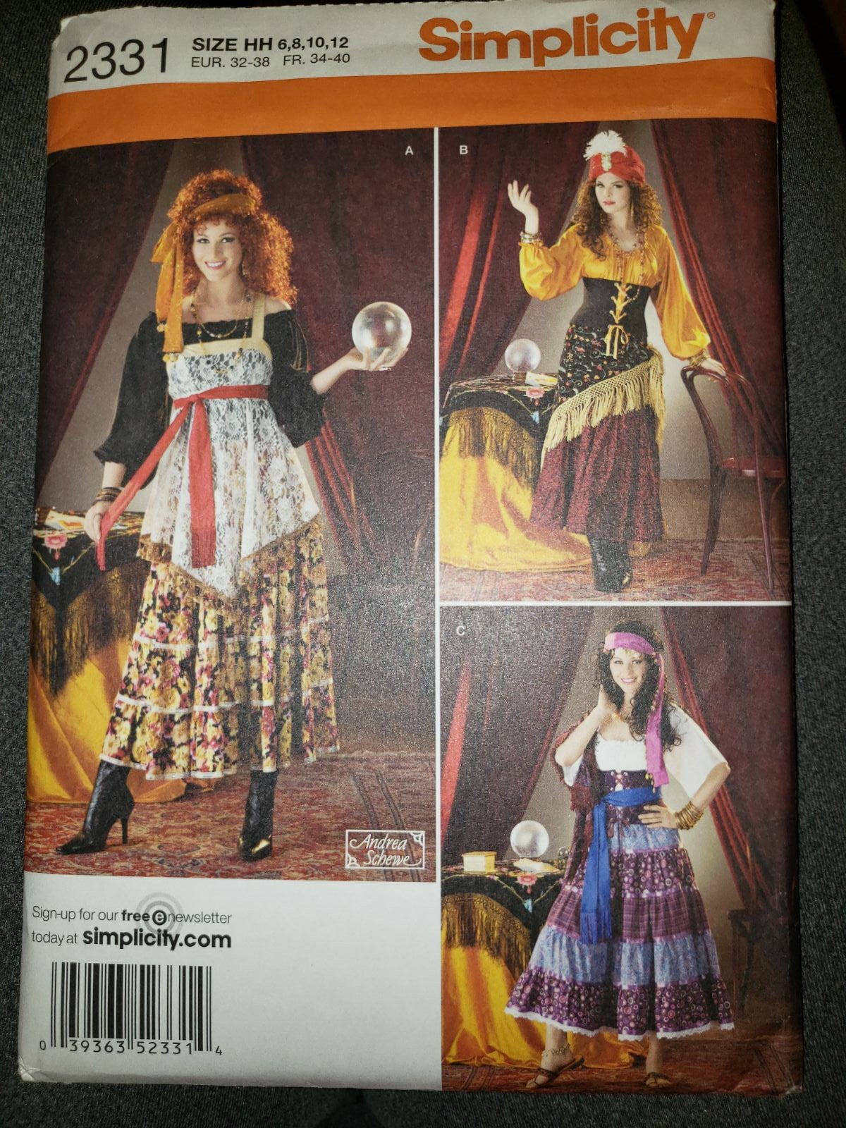 Simplicity Gypsy Costume Pattern