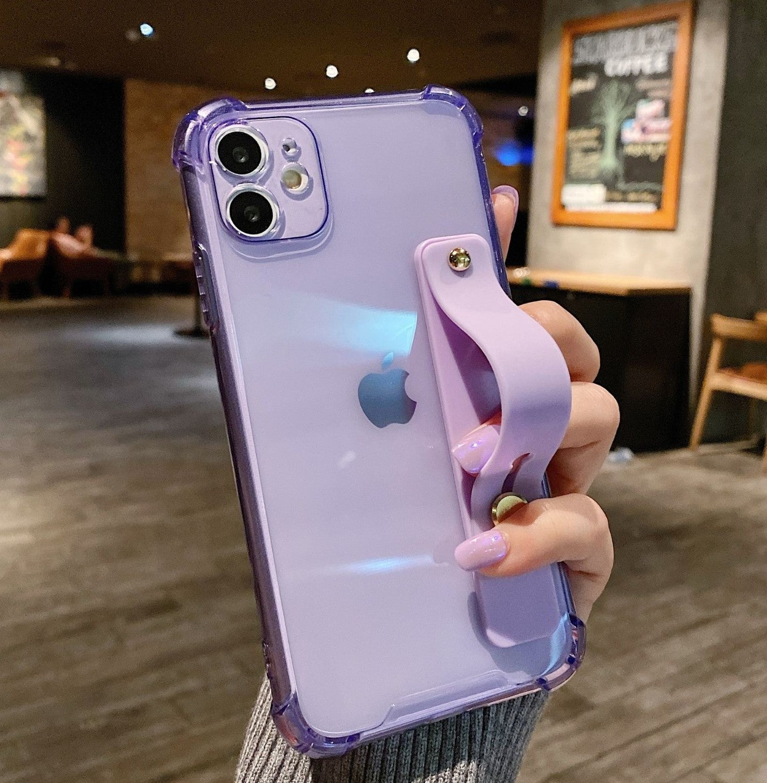 iPhone 12 case Clear Bumper Purple